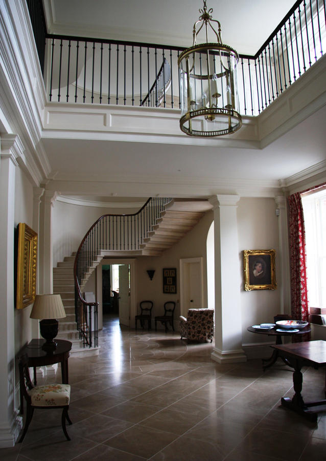 New country house entrance hall