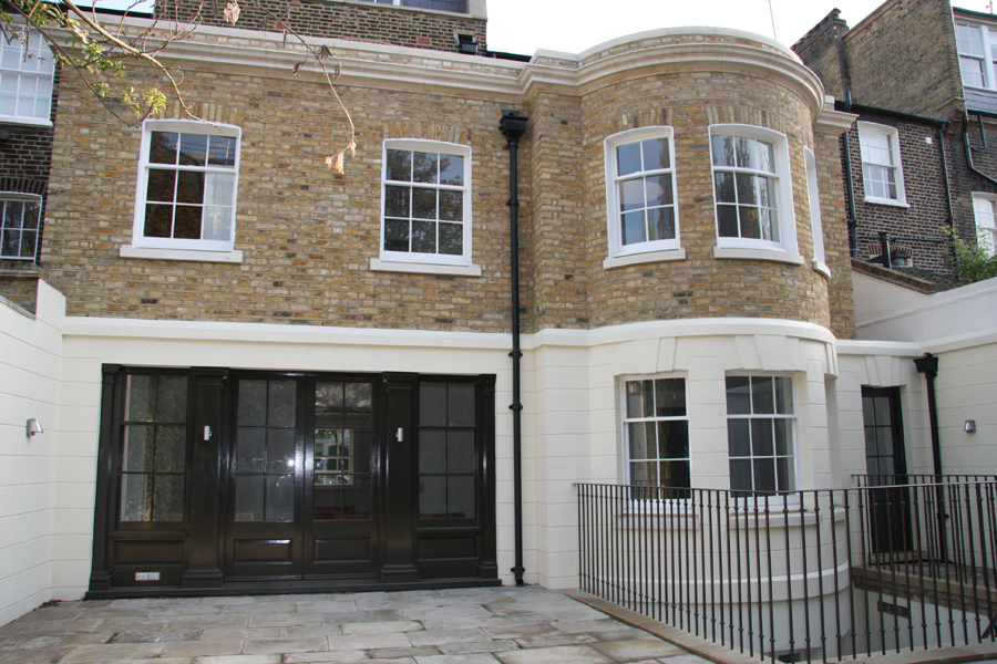 New rear extension to chelsea town house after 1