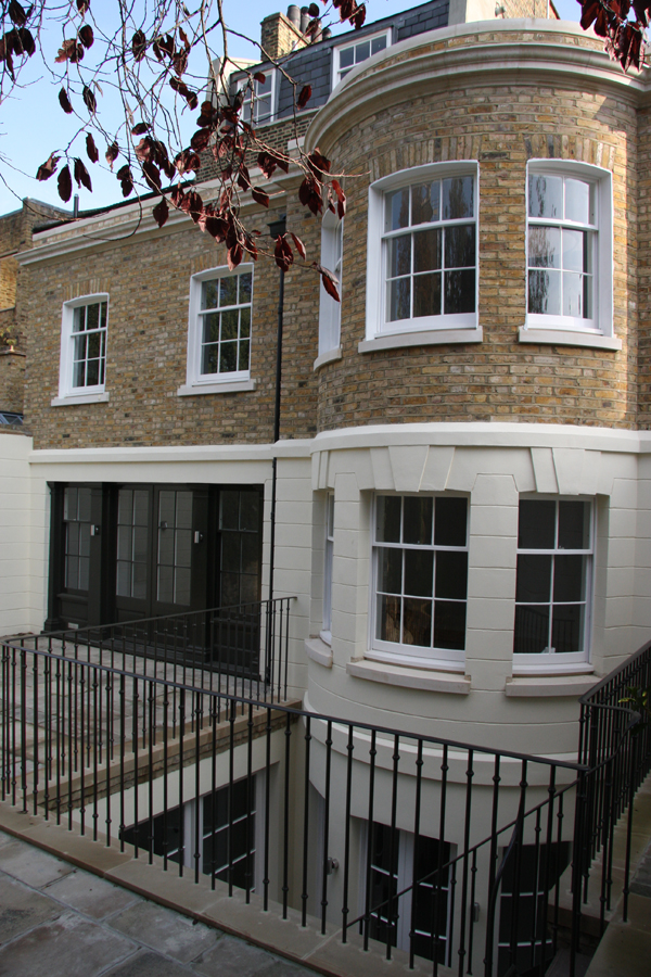 New rear extension to chelsea town house after 2